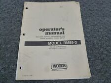 Woods Rm59 3 Rear Mount Finish Mower Owner Operator Maintenance Manual 75000 Up