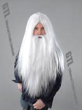 White Santa Wizard Wig & Long Beard Christmas Adult Men's Fancy Dress Accessory