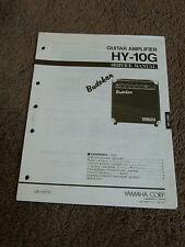 Yamaha Guitar Amplifier Hy-10G Service Manual Schematics Part List Hy10G Budokar