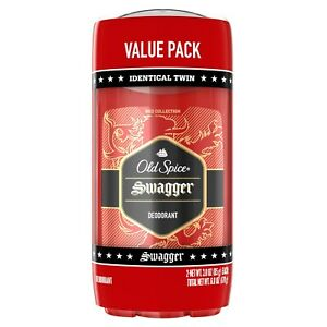 Old Spice Red Swagger Scent Deodorant for Men, 3oz, 2 Pack