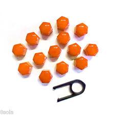 19 mm Set 20 Naranja Auto Tapas de pernos de ruedas de aleación para los frutos secos cubre Abs Pc Plástico
