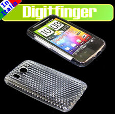 CUSTODIA CASE COVER GUSCIO TPU BIANCA PER HTC DESIRE HD