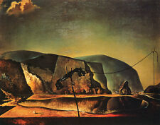 Beach Scene with Telephone     by Dali   Giclee Canvas Print Repro