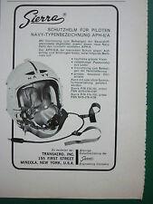 4/1967 PUB SIERRA ENGINEERING SCHUTZHELM HELMET PILOT NAVY APH-6/A GERMAN ADVERT