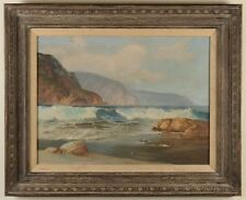 "VERNON KERR (1938-1982)Coastline Original Oil on Canvas Painting 26""x 32"" Framed"
