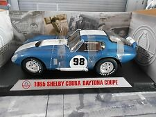 Shelby Cobra Daytona Ford Coupe #98 racing 1965 Blue White Shelby collectib 1:18