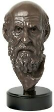 Sculpture of Hippocrates Bust | Founder of medicine for bookshelf, office, table