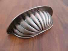 Copper Cup Pull Fan Scallop Bin Kitchen Cabinet Dresser Hardware PN0600V