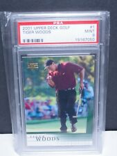 TIGER WOODS 2001 Upper Deck Golf  Rookie RC #1 The Goat Graded PSA MINT 9