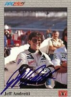 Jeff Andretti 1991 All World Indy Signed Card Auto