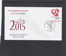 MONACO 2014 STOP AIDS FIRST DAY COVER FDC