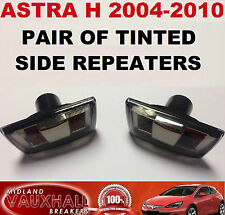 VAUXHALL ASTRA H PAIR SMOKED TINTED SIDE REPEATERS WING INDICATORS SXI SRI VXR