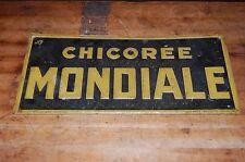 Chicoree Mondiale Embossed Antique Sign Allee Verte Bruxelles Tacker