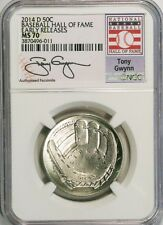 2014-D 50c Tony Gwynn Baseball Hall of Fame NGC MS70 Early Releases