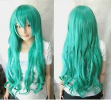 New Japan Anime miku Hatsune Green Cosplay Wig Cos Party Wigs 80cm +wig cap