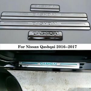 Car Door Sill Covers Scuff Plate Trim Protector For Nissan Qashqai 2016-2017