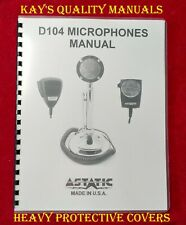 Cb/Ham Radio Astatic D-104 Microphones Manual 😊C-My Other Manuals😊