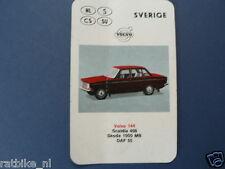 AUTO SVERIGE VOLVO 144 KWARTET KAART, QUARTETT CARD,SPIELKARTE