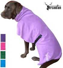 Microfibre Dog Robe by Arcadian. Adjustable Straps. Absorbent & Easy To Fit.