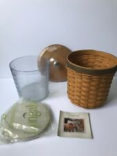 New ListingLongaberger 2005 Medium Canister Basket and Lid Includes Plastic Insert w/Lid