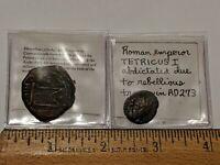 2 LOT ANCIENT COINS EMPEROR TETRICUS I & HERACLIUS CONSTANTINOPLE EMPEROR