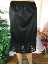 Bel Air  VTG  Black Half Slip Size L 25 length # 070518
