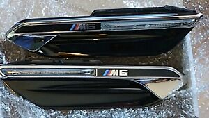 BMW OEM M6 F06 F12 F13 2012-2019 Fender Side Vents With Side Markers Pair New