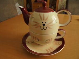 CHA CULT Tea for one 3 teilig total süß,rotbraun/beige