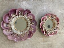 New decorative mirrors with pastel sea shells. Brand New never used.