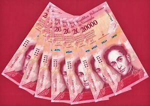 Dealer Lot of 7 X 20000 Bolivares 2016 VENEZUELA UNC NOTES (P-99c) PRINTER: CdMV