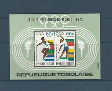 Togo bloc  jeux olympiques de Munich  de 1972    num:  62   **