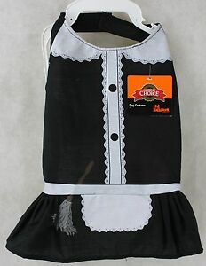 Halloween Grreat Choice Black White Maid Shirt Pet Dog Costume Size Small NWT