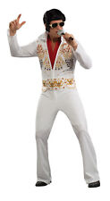 Adult Elvis Presley White Jumpsuit Costume King of Rock & Roll Adult Size Large