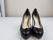 Coach Block Heel Pumps Black Leather Sz 7 Women's EUC Shoes Designer MSRP $165