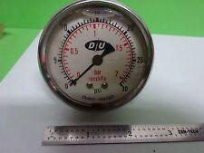 PNEUMATIC PRESSURE METER AIR MANOMETER DU DURO-UNITED 30 PSI  AS IS BIN#Y5-30