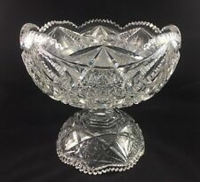 Laurel Cut Glass ABP American Brilliant BERYL No.102 2-Piece Footed Base & Bowl