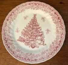 """Queen's Seasons Greetings Red Dinner Plate 10"""""""