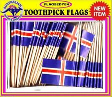 Iceland flag Icelandic flag Nordic toothpicks for cooking cupcakes party Parties