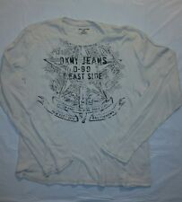 Men's Crew Neck Henley Shirt   Size Large  DNKY Jeans