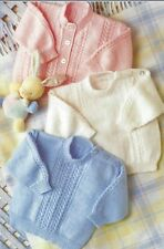 "Baby Knitting Pattern Cardigan and Sweaters Boys, Girls  12-24"" 4ply 1021"