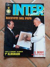 RIVISTA INTER FOOTBALL CLUB N. 3 MARZO 1991 PAPA WOYTILA