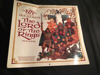 Vintage Lord Of The Rings Calendar J.R.R. Tolkiens 1979 Hobbit