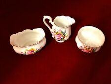 Royal Albert Rose bone china Creamer, sugar Bowl & Jam dish England