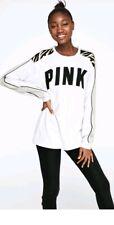 Victoria secret pink large Long Sleeve Campus T Shirt Zebra