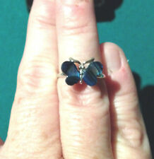 Beautiful blue butterfly ring - paua shell - size 6; gift idea; #butterfly