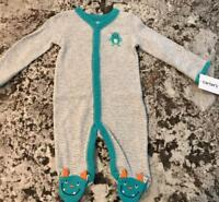 NWT BABY BOY FOOTED  1pc PAJAMAS SIZE 0-3 MONTHS