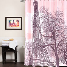 100% Polyester Fabric Shower Curtain Eiffel Tower Paris Print 70