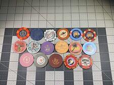 17pc Casino Chip Token Lot