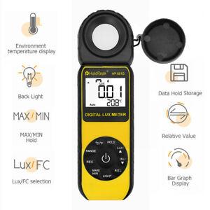 Light LuxMeter LCD Display Illuminometer Luminometer 400,000Lux Temp Detector