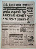 GAZZETTA DELLO SPORT 22-10-1988 VOELLER ROMA GIANNI AGNELLI ZAVAROV MARADONA